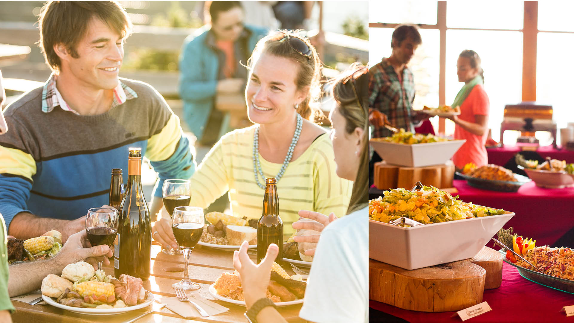 People dining at the Mountain Top Summer Feast