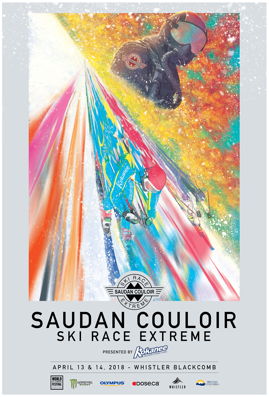 Couloir Ski Race Extreme